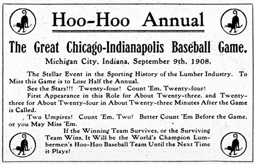 Hoo Hoo baseball Chicago vs. Indianapolis
