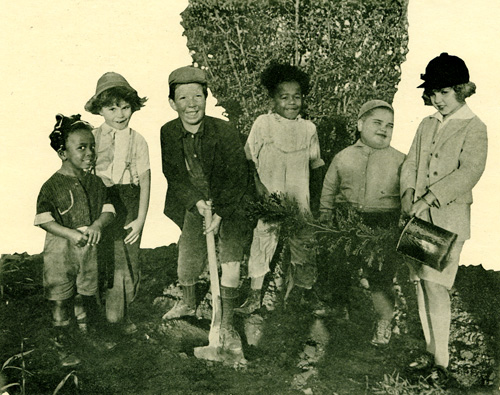 "Actors from the ""Our Gang"" series helped out, too. Oh, those Little Rascals!"