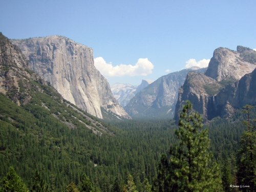 Yosemite Valley, which Olmsted advocated protection of in his report. (Author's photo)