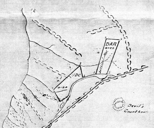 Close-up of the area from the same map.
