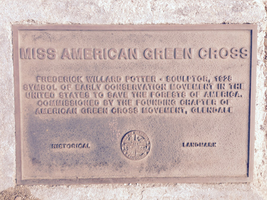 Miss American Green Cross plaque