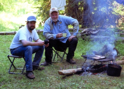 Thomas with Jim Lyons, Undersecretary of Agriculture, in the Eagle Cap Wilderness on the Wallowa-Whitman National Forest in August 1996. On occasion Jack brought along political leaders and others on his backcountry trips to show them the importance of wilderness.
