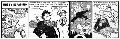 Rusty Scrapiron strip, March 1951