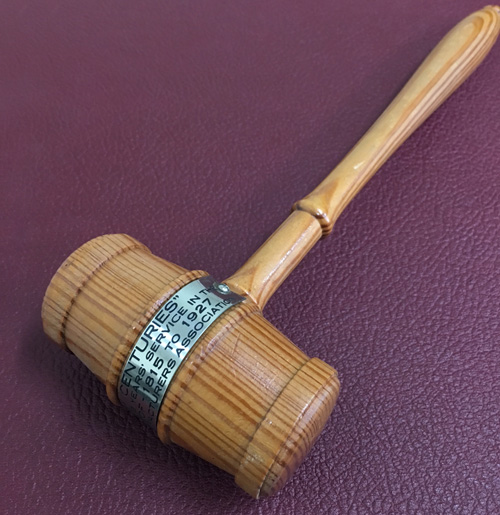 NLMA gavel from White House wood
